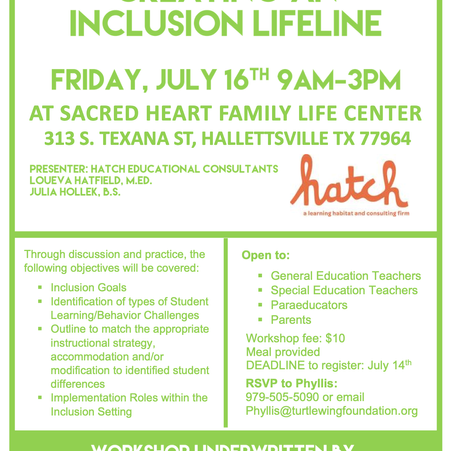 Teachers and Paras Encouraged to Gain Skills to Create an Inclusion Lifeline