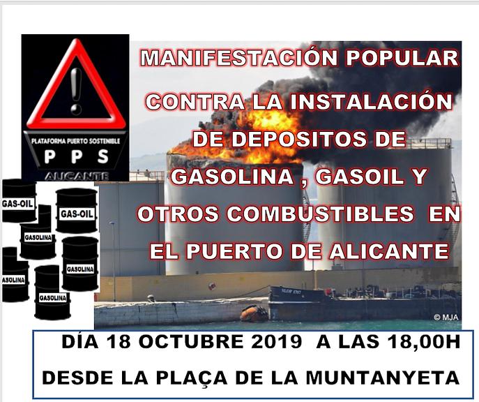 MANIFESTACION CONTRA MACRODEPOSITOS EN EL PUERTO DE ALICANTE