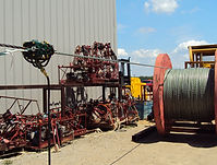 Wire rope lubrication operation