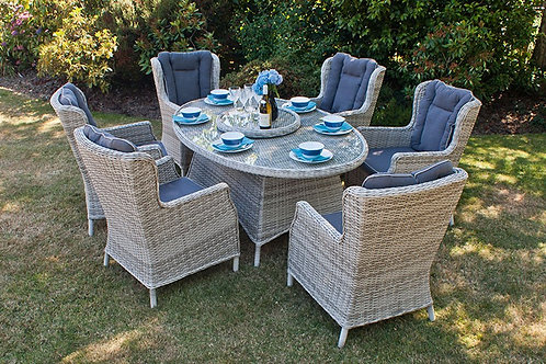 Fairhaven 6 Seater Wingback Dining Set
