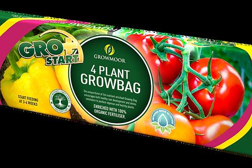 4 Plant Growbag 38 Litre