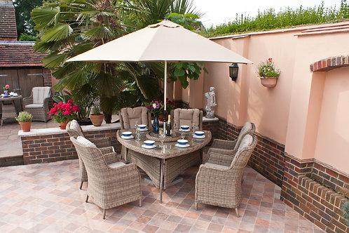 Lombardy triangular patio set