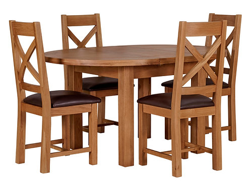 Torino Round Extending Dining Table