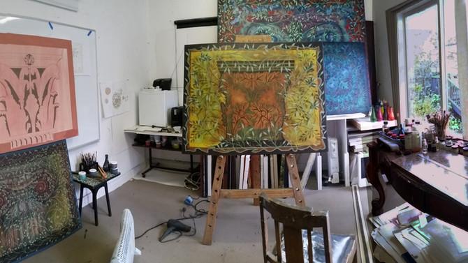 New Paintings Cherries Capital Series Underway