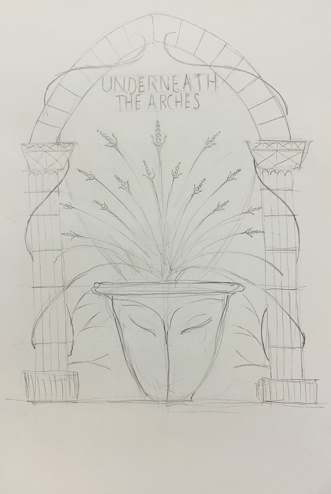 Underneath The Arches (Preliminary Sketches) and a rewritten poem.