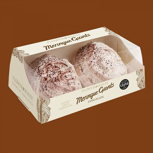 Giant Swiss Meringues. Pack of 2. Chocolate