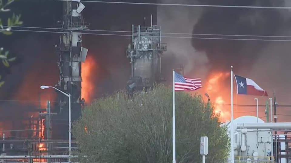 TPC Plant explosion. Nov. 27, 2019 - Photo courtesy of Hilton Kelley