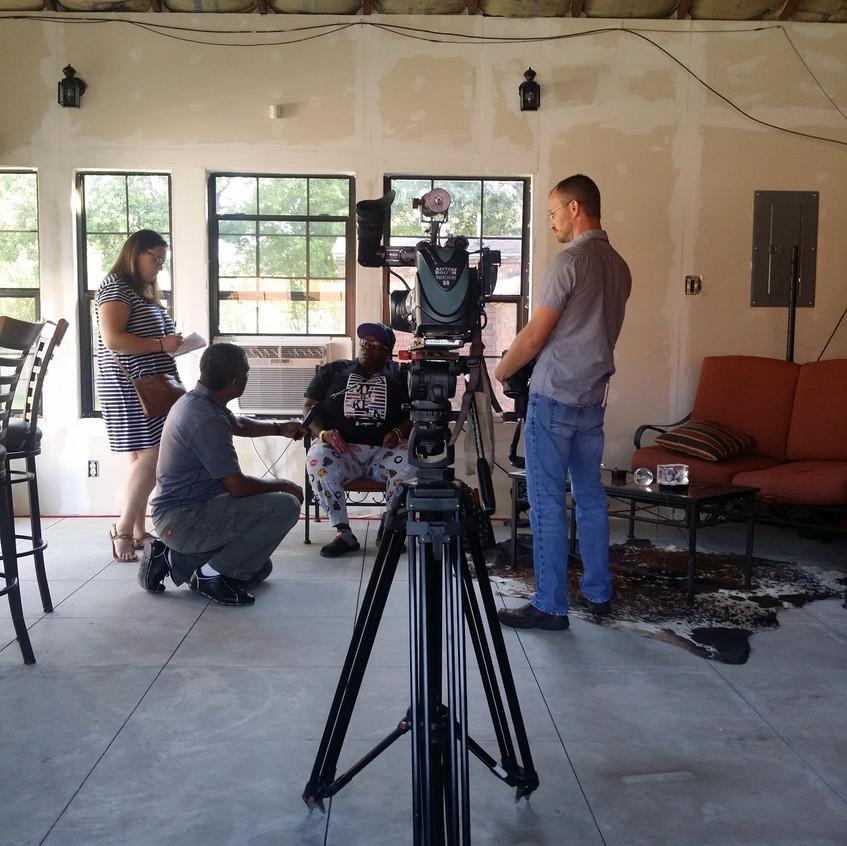Tenants being interviewed
