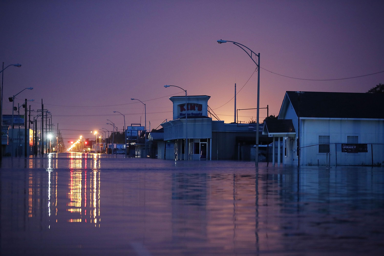 Gulfway Drive under water