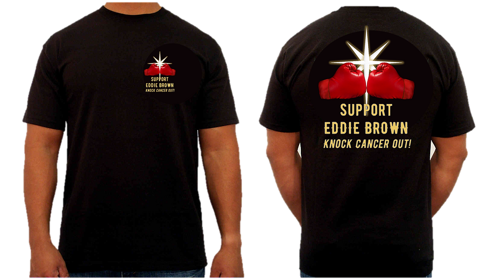 Limited Edition Eddie Brown knock cancer OUT! T-shirt