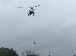 Air rescue in progress