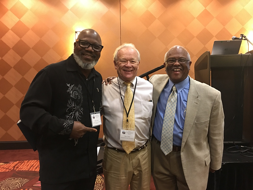 Hilton Kelley, Ron Curry (Region 6 EPA administrator) and Israel Anderson (Associate Director, Office of Environmental Justice, Tribal and International Affairs)