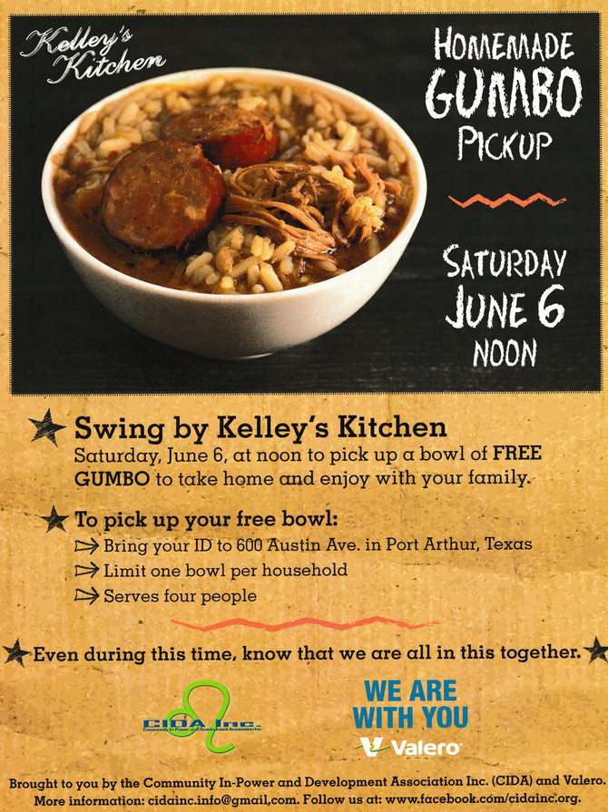 Homemade Gumbo Pickup: In times of need, we come together for our community.