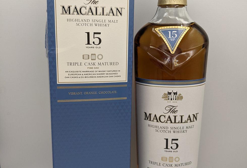 Macallan 15 Year Old Triple Cask Matured - 70cl 43%
