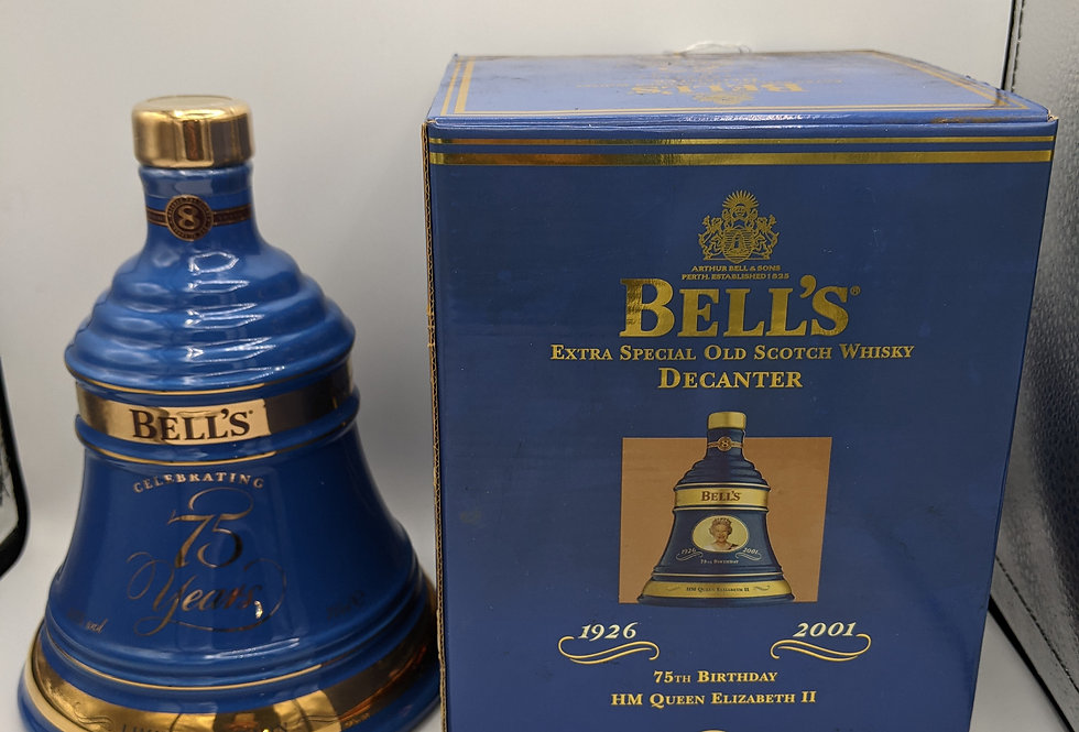 2001 Bell's Extra Special Limited Queen Elizabeth 75 Birthday Decanter