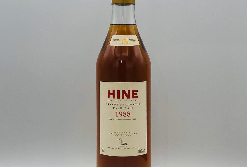 Hine Grande Champagne Cognac 1988