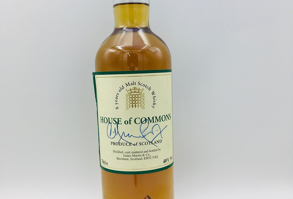 House of Commons 8 Year Old blended malt whisky.