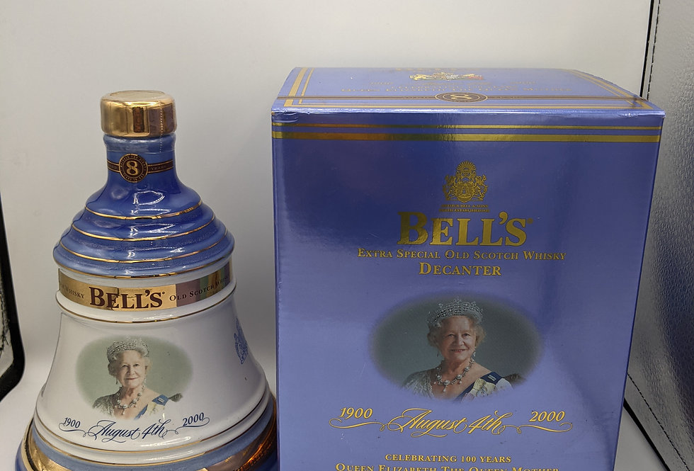 Bell's 'The Queen Mother 100th Birthday' Decanter Original Blended Scotch Whisky