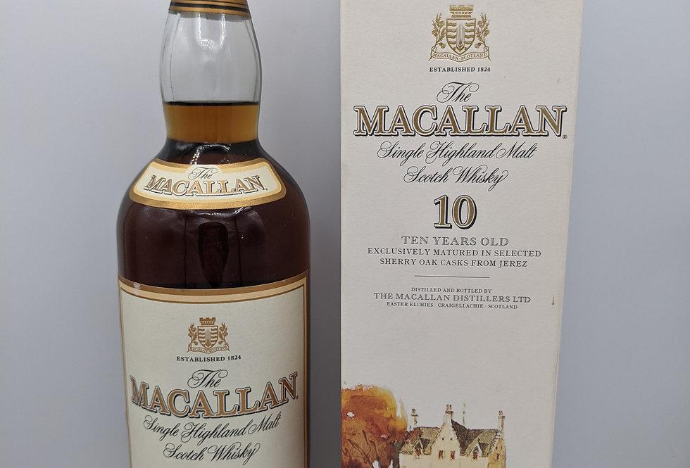 The Macallan 10 Year Old - 1990s Single Malt Whisky, Speyside, Scotland