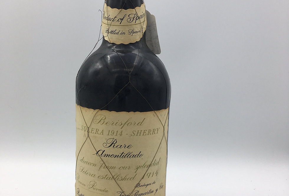 "Jose Pemartin's Berisford ""Solera 1914"" Rare Amontillado Sherry - 1970s"