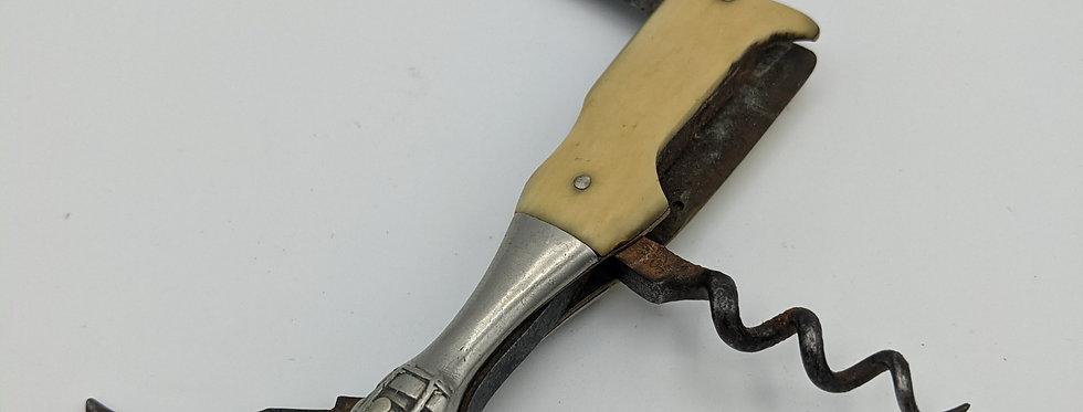 Champagne Bottle Knife Corkscrew