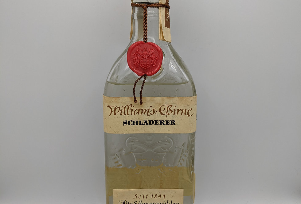 Schladerer Williams Birne, Eau de Vie, Germany 40%