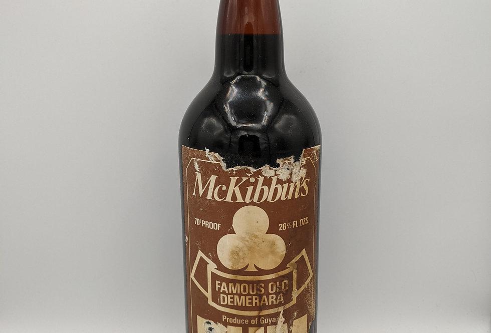 Rum McKibbin's Famous Old Demerara 1960's 70 Proof 26 2/3 Fl oz Full SEALED