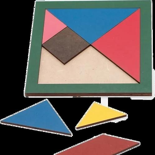 Juego De Ingenio Didáctico Tangram En Colores Madera