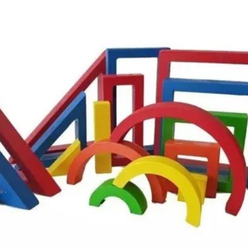 Bloques Madera Didácticos Motricidad Montessori
