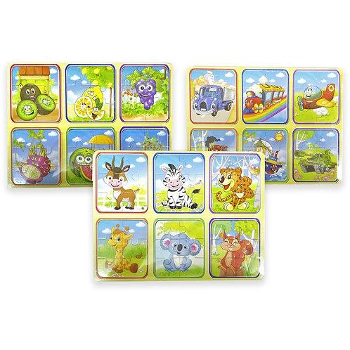 TABLERO CON 6 PUZZLES