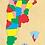 Thumbnail: Rompecabezas Madera- Mapa Argentina Encastre