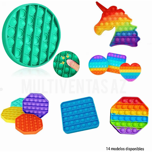 Pop It Fidget Toy Juguete Sensorial Anti Estres Silicona