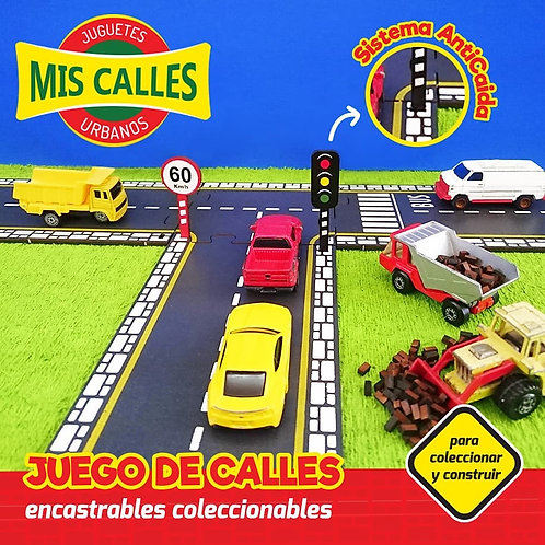 Kit De Rectas-accesorio De Mis Calles Encastrables De Madera