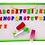 Thumbnail: Pizarra Magnética Con Marcador Y Letras 25x35 Cm Didáctica