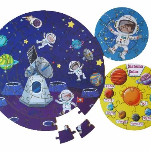 Rompecabezas Circular De Madera Sistema Solar 100 Pz