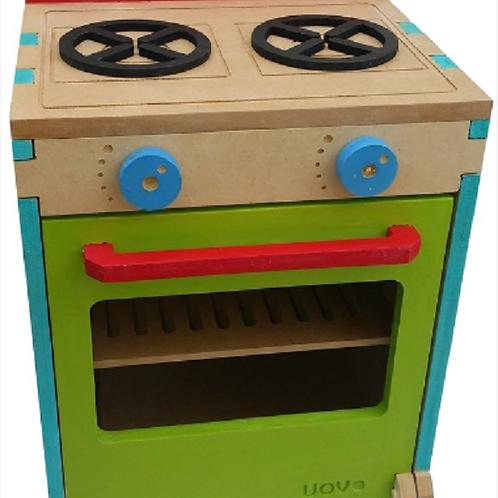 Cocina Con Horno Madera Y Accesorios Artesanal