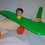 Thumbnail: Avion De Madera Artesanal Arrastre Empuje Juego Simbolico