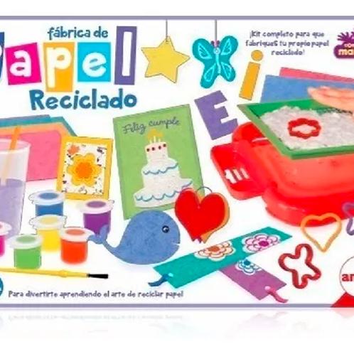 Fábrica De Papel Reciclado Juego Didáctico Arte