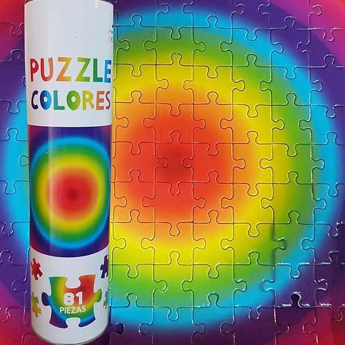 Puzzle Colores 81 Piezas Motricidad Fina