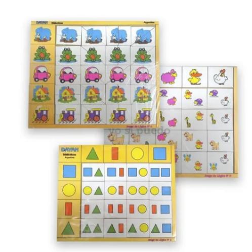 Juegos Lógica Asociación Madera Niños Didácticos