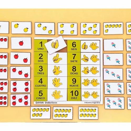 Juego Numérico Deditos Didáctico Aprender Números Y Contar