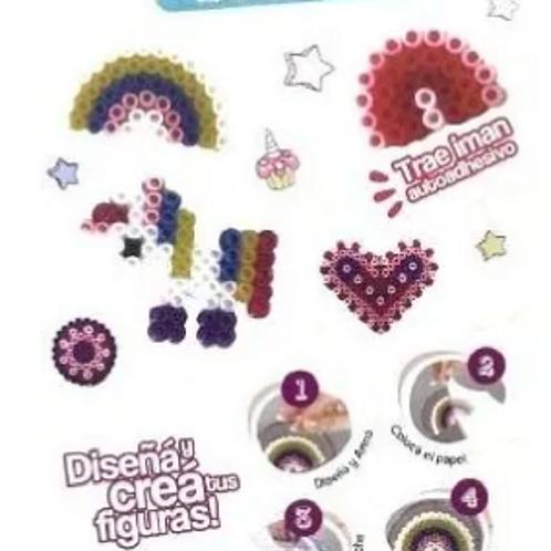 Kit Siluetas Completo De Hama Beads .Canutillos+pinza