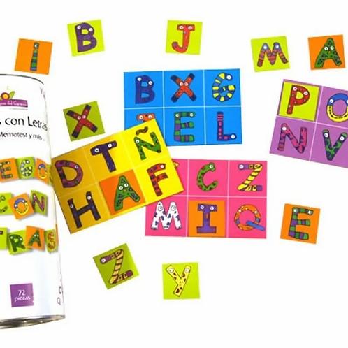 Juego Didáctico Con Letras 4 Juegos En 1 Memotest Loteria