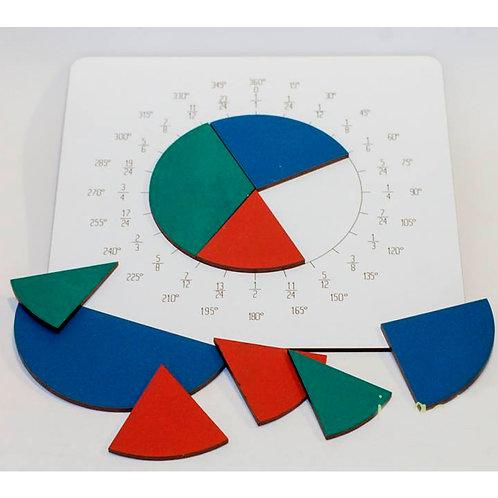 Tablero Para Fracciones Con Geometria Montessori Madera