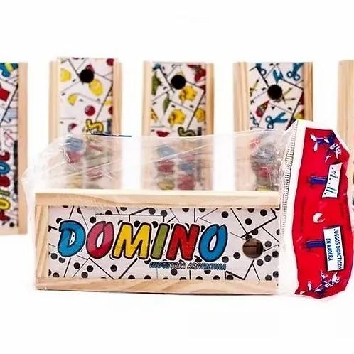 Juegos De Domino Memoria Varios Temas Madera Infantil Estimulación