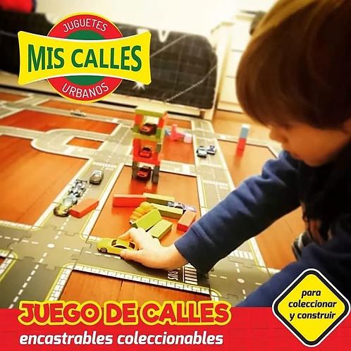 Kit De Intersecciones Juego Mis Calles Encastrables De Madera