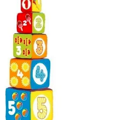 Bloques Cubos Apilables Bebes Tela Torre Bebe 5 Pzas 50CM!!