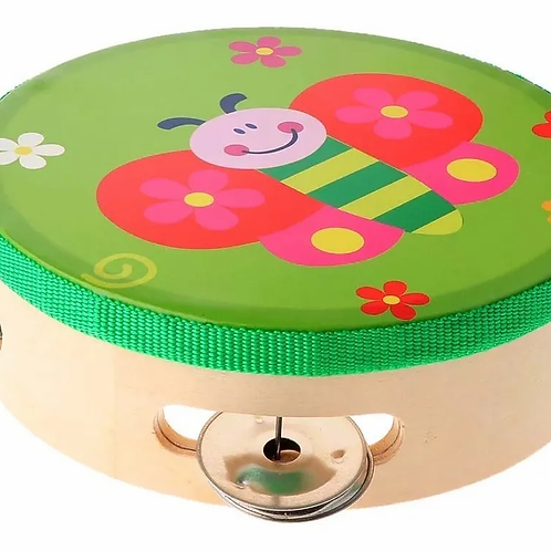 Pandereta De MaderaChica Instrumento Musical Infantil