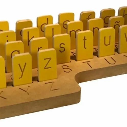 Tablero Alfabeto Abecedario Minuscula Encastre Montessori