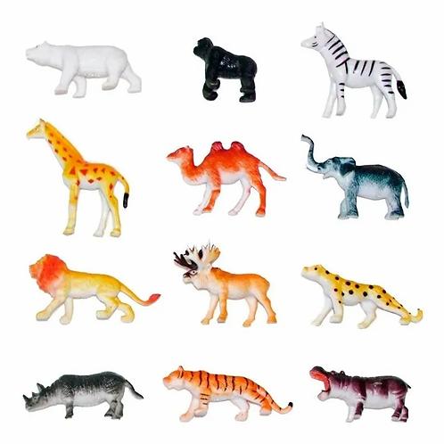 PACK DE 10 ANIMALES DE GRANJA, SELVA, MAR O DINOSAURIOS